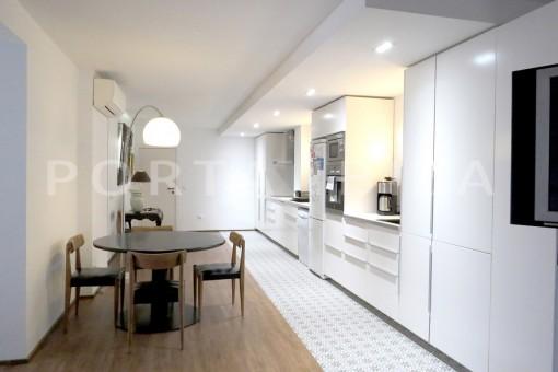 kitchen-wonderful apartment- Botafoch-Ibiza