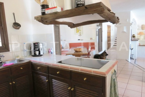 kitchen area-wonderful house at Can Germa-great sea view