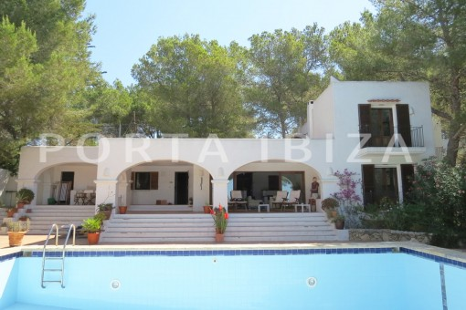 pool & chillout area-wonderful house at Can Germa-great sea view