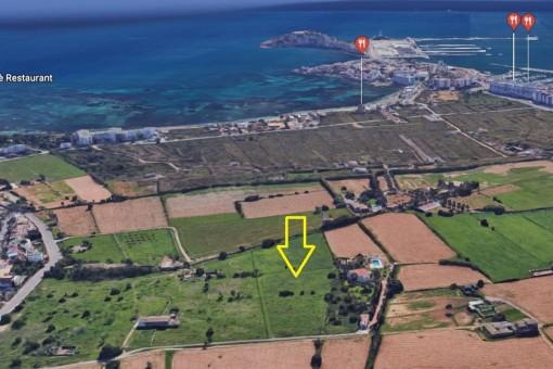 Terreno grande en Jesús, Santa Eulalia, a solo 5 minutos de la ciudad de Ibiza