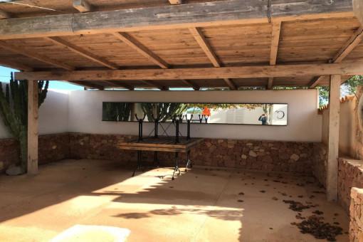 Restaurante rústico en Formentera