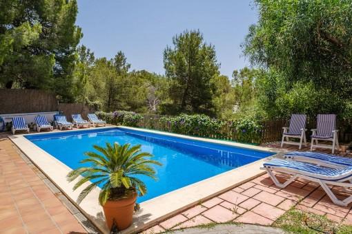 Zona de la piscina soleada